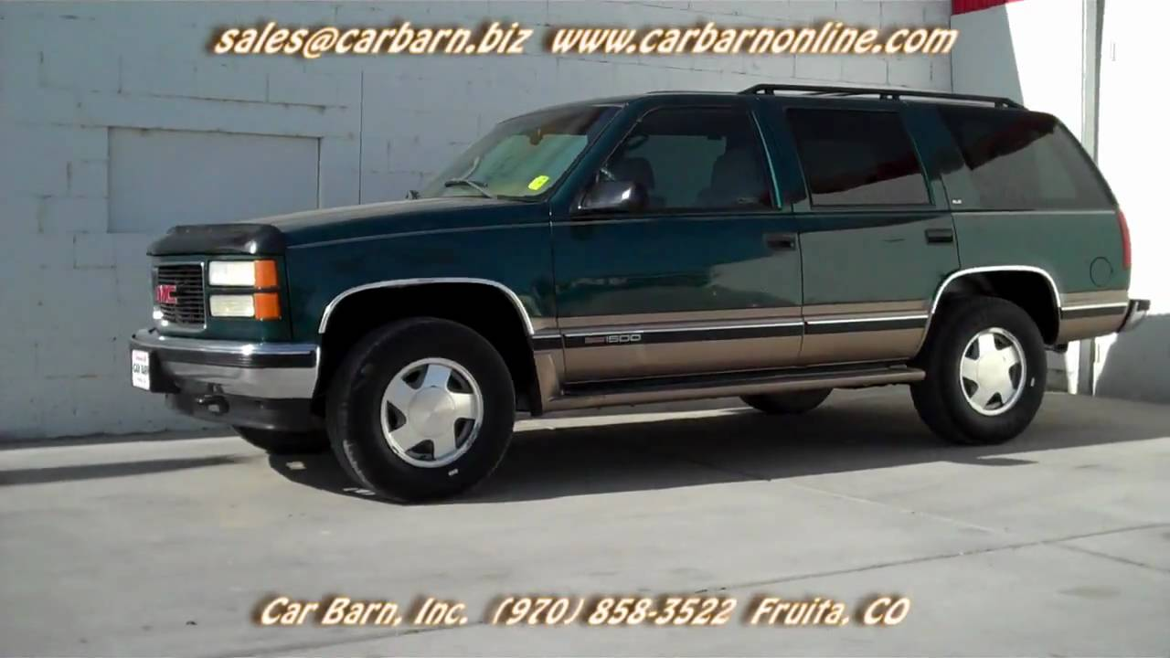 sold 1998 gmc yukon 4x4 sle at car barn in fruita co youtube 1998 gmc yukon 4x4 sle at car barn in