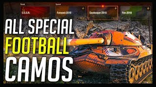 ► All Special Football Camos (10 Camos?) ⚽ World of Tanks Special Camouflages [Bonus Video]