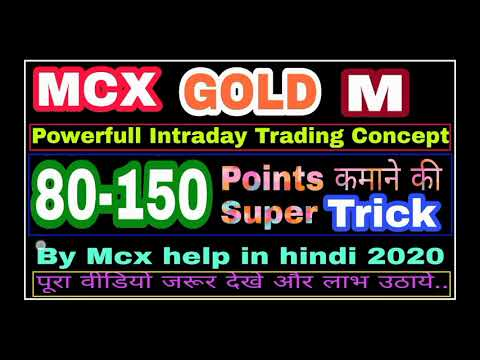 MCX GOLD MINI intraday trading Strategy 2020.. High Accurate trading system.. 👍