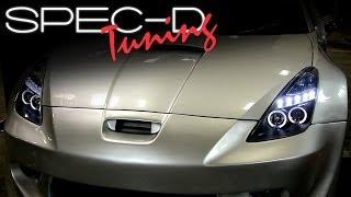 SPECDTUNING INSTALLATION VIDEO: 2000-2005 Toyota Celica Projector Headlights
