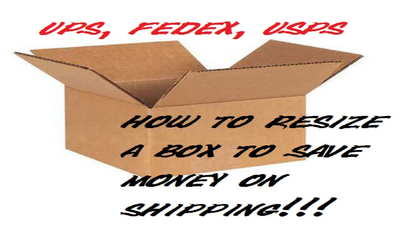 How to resize a box for shipping to save money on postage  usps ups fedex  ebay amazon eCommerce!!!