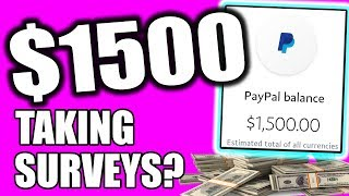 $1500 In Your First Month, Doing Surveys For Money! - This is CRAZY!!!
