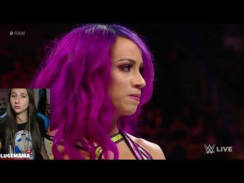 WWE Raw 11/27/17 Absolution takes on Sasha Banks