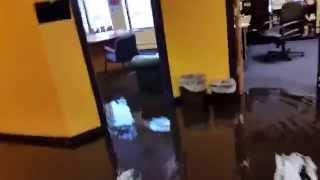 Water Main Break At Cumulus Worcester Studios
