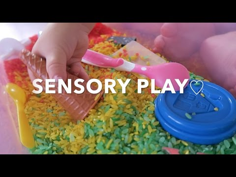 SENSORY PLAY WITH MY 1 YEAR OLD (MONTESSORI)