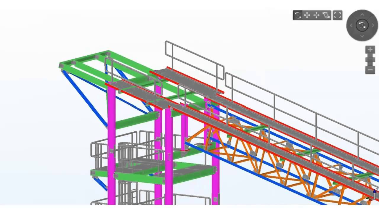 Tekla India BIM Awards 2015 - F16 Meghnad Saha Institute Structural Support  for Conveyor