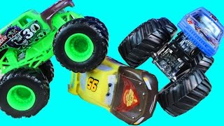 Hot Wheel Monster Monster Jam Color Shifting Monster Trucks With Disney Pixar Cars Learning Colors