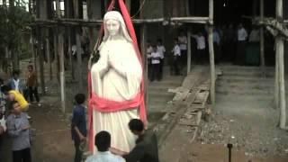 Video về việc đưa chuông và tượng Đức Mẹ lên của Giáo Họ Hậu Hòa