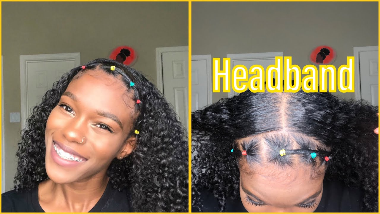 How To Rubber Band Headband Natural Hair Video Black Hair
