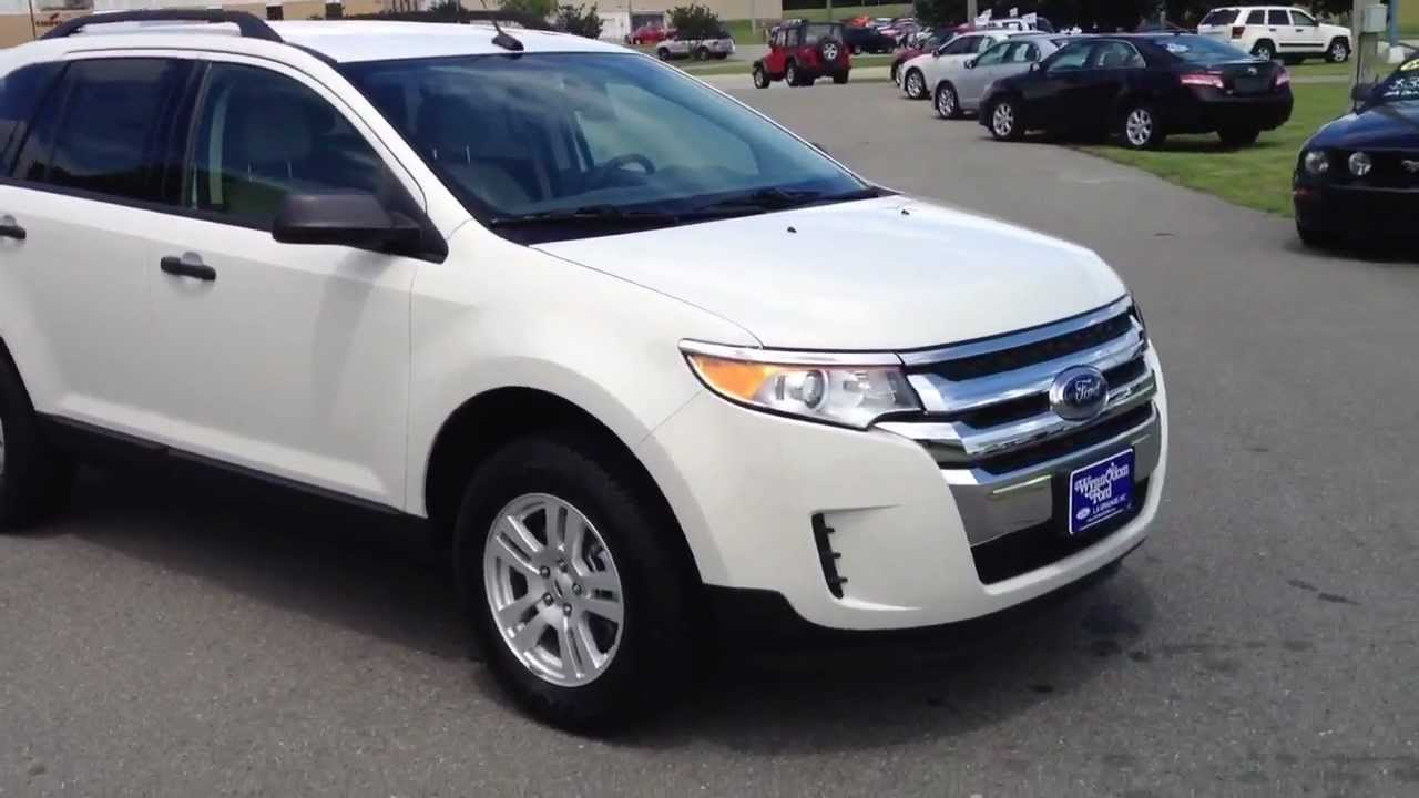 new 2013 ford edge se white suede for sale youtube. Black Bedroom Furniture Sets. Home Design Ideas