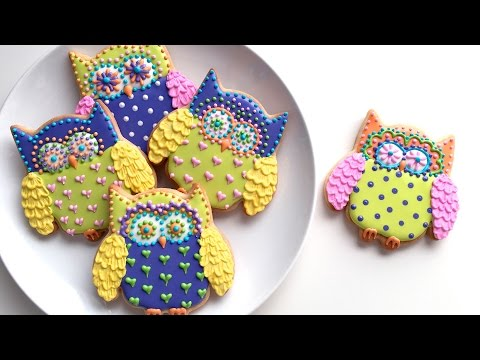 How To Decorate Colorful Owl Cookies!