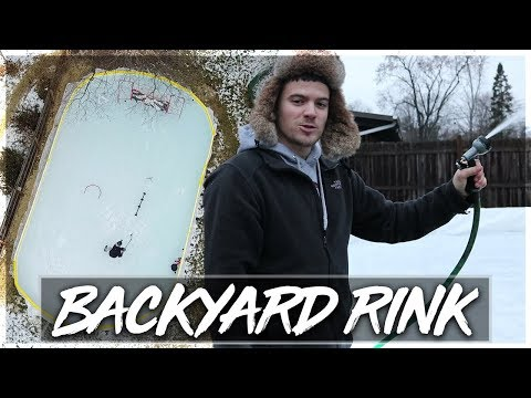 BUILDING MY OWN BACKYARD HOCKEY RINK