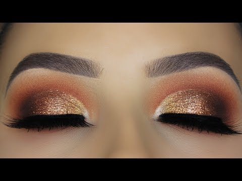 Copper Glitter Eye Makeup Tutorials