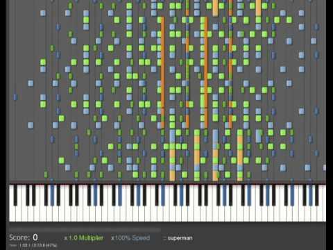 Unreal Superhero 3 ( Keygen Song) piano impossible version