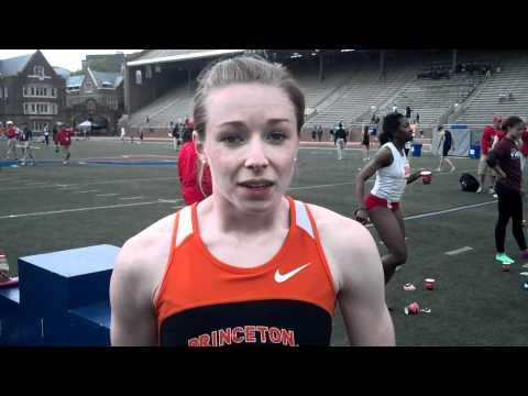 Eileen Moran of Princeton - Sprint Queen of 2012 Outdoor Heps