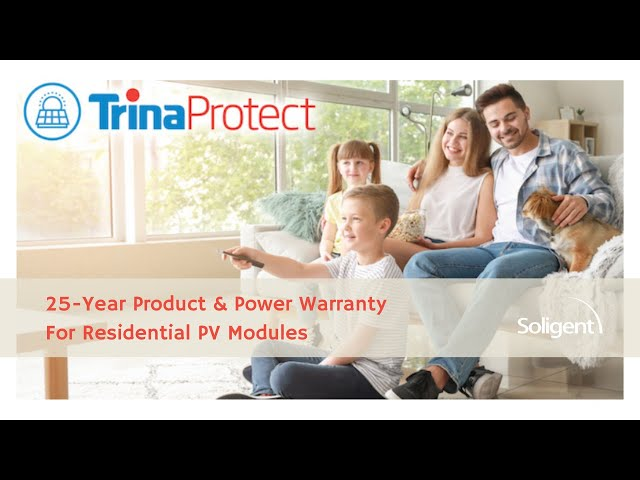 Trina Solar Announces Trina Protect | 25-Year Product & Power Warranty For Residential Solar Panels