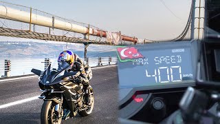 KAWASAKİ H2R TOP SPEED RECORD 0-400km/h 26 second.
