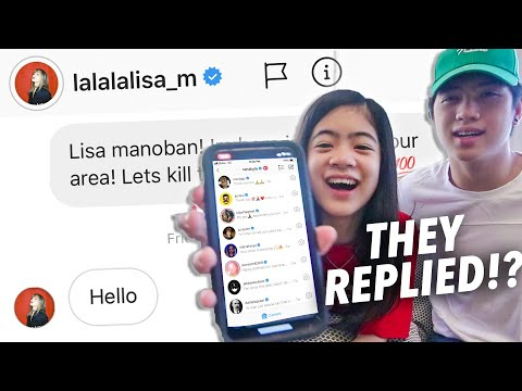 we-sent-a-dm-to-100-celebrities-on-instagram-(lisa-replied!!)- -ranz-and-niana