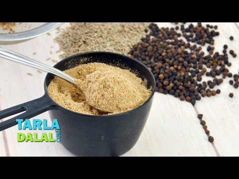 Chaat Masala/ Homemade Chat Masala Recipe/Popular Roadside Chaat Masala By Tarla Dalal