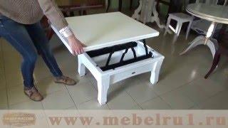 Стол-трансформер из дуба -