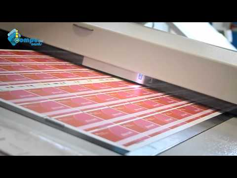 Plastic card production - Printing process - PVC cards