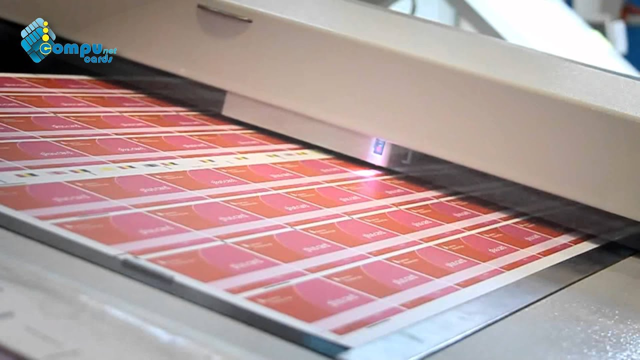plastic card production printing process pvc cards youtube