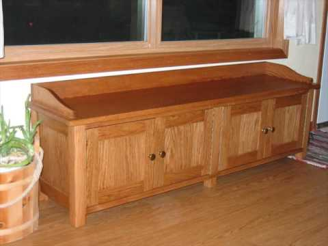 Oak Storage Bench With Drawers For Bedroom Youtube