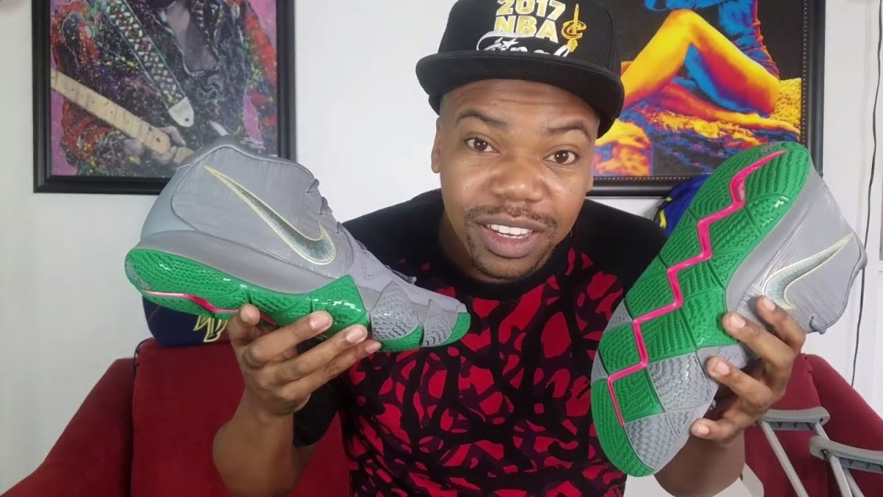 "a88e12fad5e6 Nike Kyrie 4 ""City Guardians"" REVIEW + ON FEET - YouTube"