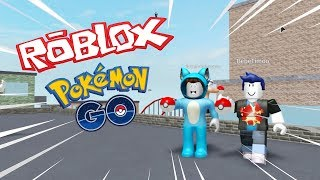 WE PLAY POKEMON GO with THE AMIWITS in ROBLOX 😍 BE MYLO TIMO VITA AND MORA