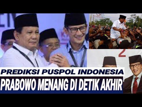PRABOWO DIPREDIKSI MENANG TIPIS;MENIT2 AKHIR PENENTUAN;PUSPOL INDONESIA;PILPRES 2019;CAPRES;JOKOWI