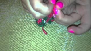 Christmas Rainbow Loom Bracelet Part14