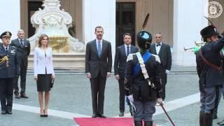 I Reali di Spagna a Palazzo Chigi