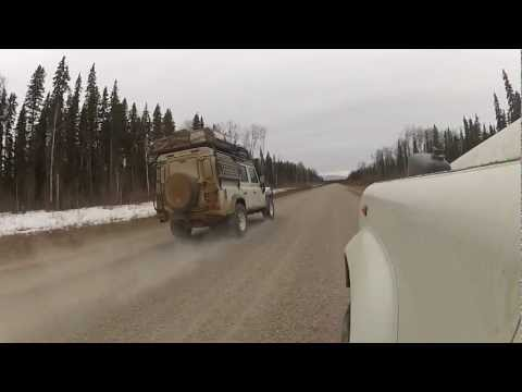 Driving in the North West Territory of Canada