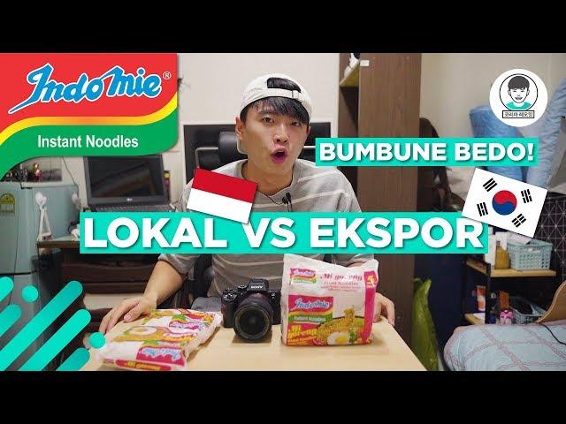 Indomie EKSPOR VS Indomie Lokal (SAOSNYA BEDA!!)
