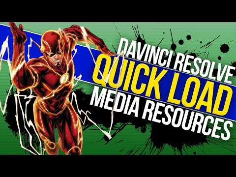⚡Davinci Resolve Quick Tip | Quick Load Media Resources