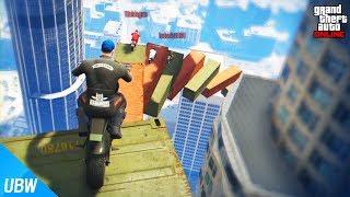 한국인은 절대 못 깨는 오토바이 레이스?! [무한의 계단 레이스: GTA5 작업탐방] 울산큰고래