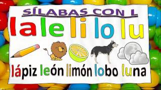 slabas para nios con msica con m p s l n d f t y b syllables for kids