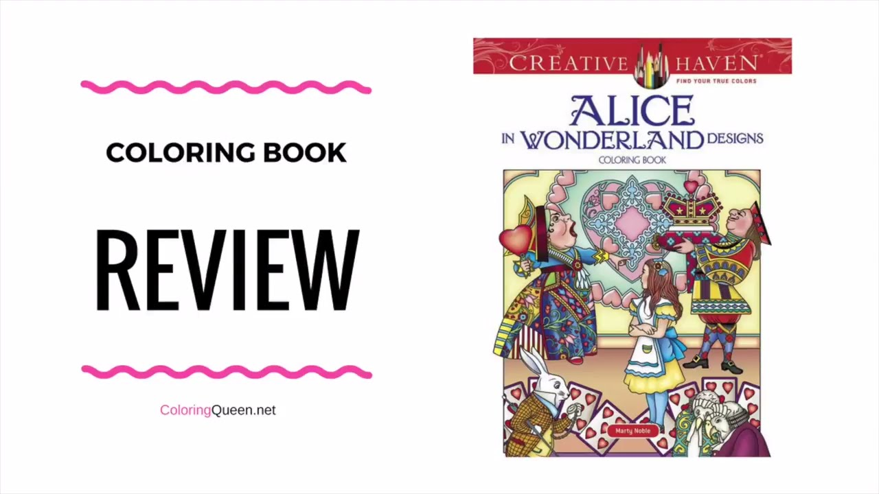 alice in wonderland coloring book review marty noble youtube