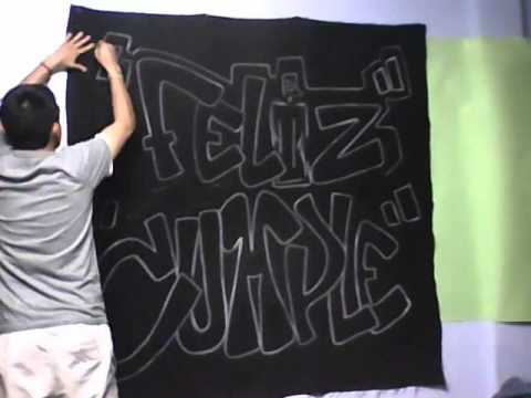 graffiti feliz cumple ..autr..Davo - YouTube