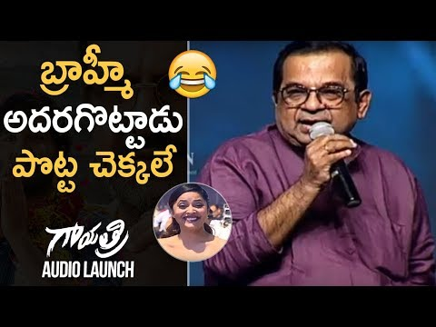 Comedian Brahmanandam Hilarious Speech @ Gayatri Movie Audio Launch | TFPC