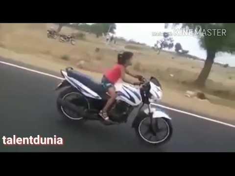 Amazing 8 Yr Old Little Girl Bike Riding | Bike Stunts | India Got Talent | Talentdunia