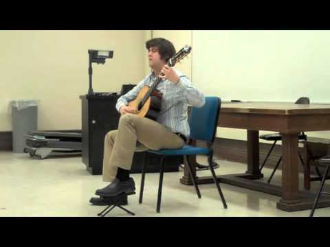 Josh Barrow performs the Minuets and Gigue from Bach's 3rd Cello Suite, BWV 1009