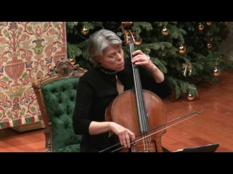 J.S. Bach Prelude in E Flat Major BWV 1010; Tanya Tomkins, baroque cello