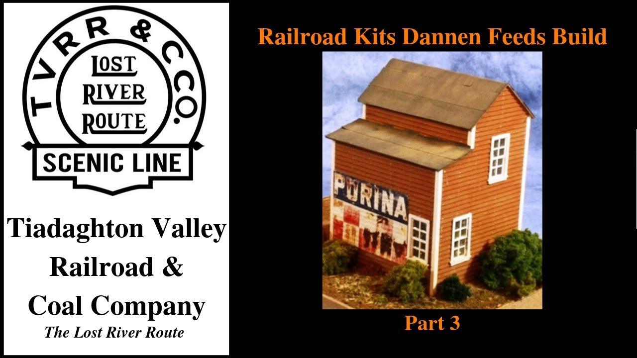 Railroad Kits HO Scale Dannen Feeds Build - Part 3