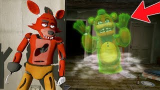 BABY FOXY ANIMATRONIC vs MONSTER GHOST FREDDY! (GTA 5 Mods For Kids FNAF RedHatter)