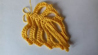Резной листик крючком для ирландского кружева.  Сarved leaflet for Irish lace