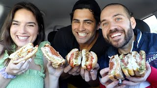 TASTE TESTING THE BEST SANDWICH SPOT with TODD AND NATALIE!!