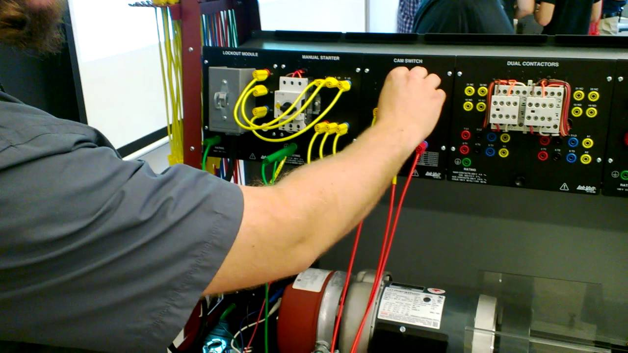 Wiring A 3 Phase Motor With Contactor Youtube Three Diagram