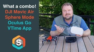 What a combo!  DJI Mavic Air Sphere Mode with the Oculus Go and VTime