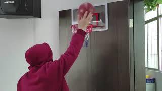 걸이식 미니 농구대 실내용 농구링 소형 농구공+공기펌프…